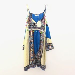 NEW Velzera Large Boho Tassel Tunic Dress